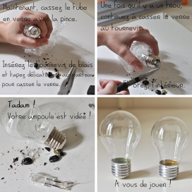 DIY : Une suspension d'ampoules et d'origami
