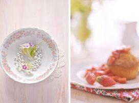 Goûter de fraises et de gingembres