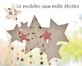 Le mobile aux mille étoiles en papier washi