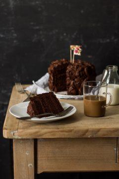 Le layer cake au chocolat et praliné