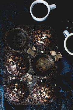 Black and white chocolate muffins