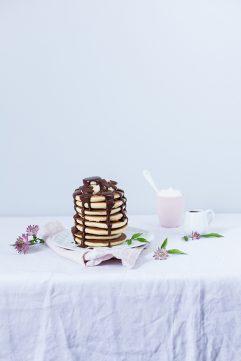 Les fluffy pancakes