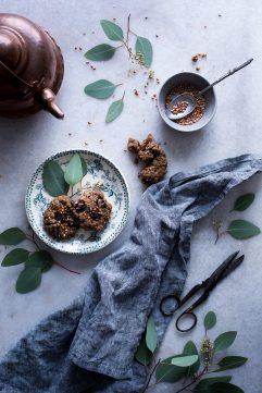 Cookies au chocolat et sarrasin