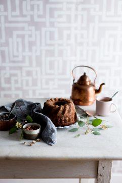 Bundt cake au chocolat et noisettes