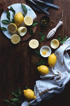 Gâteau au citron et à la purée d'amande