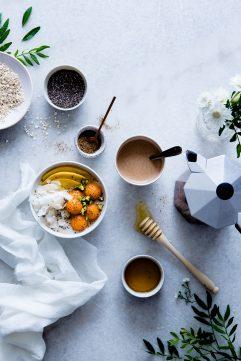 Porridge aux graines de chia et au melon
