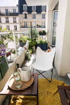Un balcon et un potager urbain