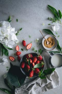 Sponge cake fraise mascarpone