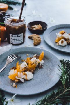#14 Dessert à l'assiette clémentine-marrons