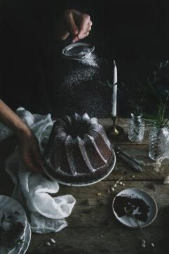 #16 Le bundt cake aux deux chocolats et aux épices