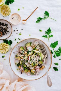 Salade de chou-fleur crue