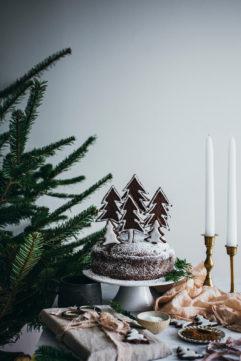 Le gâteau sapin au chocolat