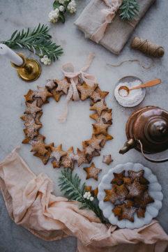 La couronne de sablés de Noël