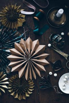 Les décorations de Noël en papier